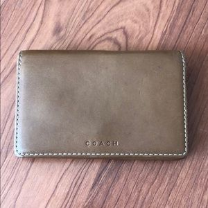 Coach leather tan wallet